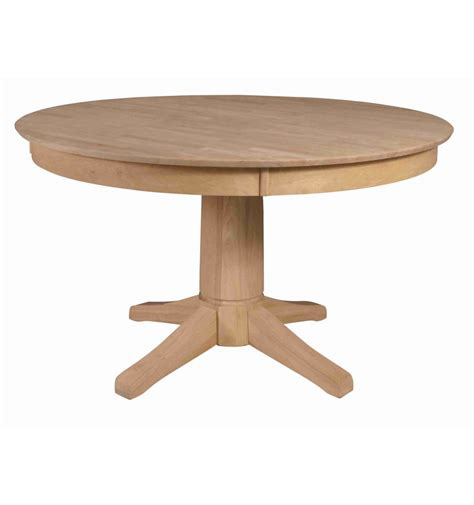 52 round dining table 52 inch solid dining table bare wood fine wood