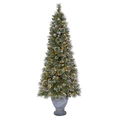 11ft pre lit artificial christmas martha stewart living 6 5 ft pre lit sparkling pine artificial potted tree with clear