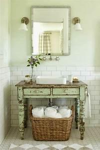 109 idees magnifiques pour votre vasque salle de bain With miroir salle de bain style ancien