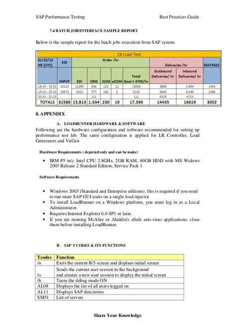 sap performance testing  practice guide