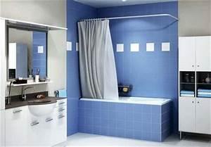 Barre D Angle Extensible Pour Rideau De Baignoire : remplacer une baignoire par une douche les solutions ~ Premium-room.com Idées de Décoration