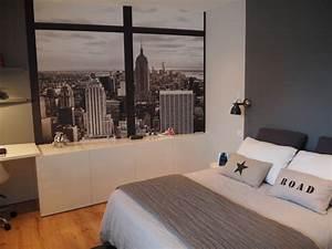 chambre d39ado sur le theme de new york With chambre theme new york