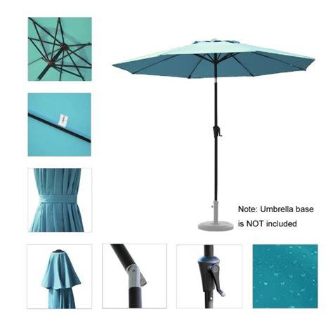 c hopetree 9 ft aluminum auto tilt market umbrella for