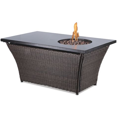 propane fire table glass shop endless summer 48 in w 50 000 btu black glass and