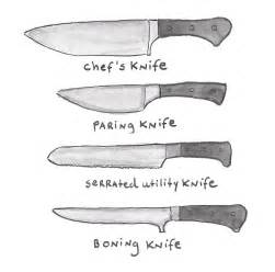 type of kitchen knives different types of knives an illustrated guide