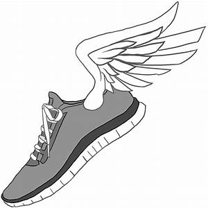 Hanging running shoes clipart - Clip Art Library
