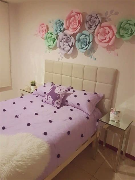unicorn floral bedroom  tween girl floral bedroom