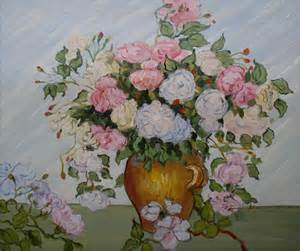 Pink and White Roses Vincent Van Gogh Painting