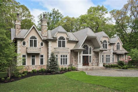 european style stucco and manor in saddle river nj