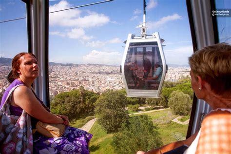 barcelona's montjuïc cable car ride return ticket