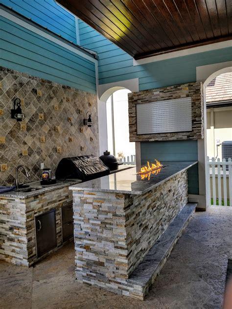 creative outdoor kitchens tv enclosure creative outdoor