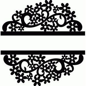 split flower   images silhouette design