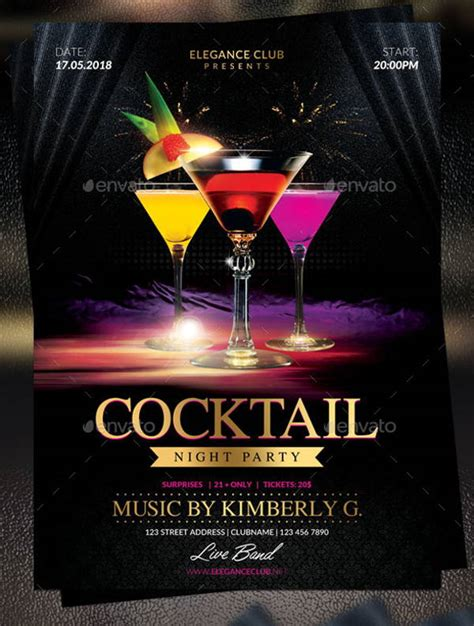 15+ Cocktail Party Flyers  Designs, Templates Free