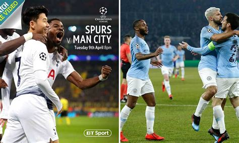 Champions League Quarter-Final - Tottenham v Man City ...
