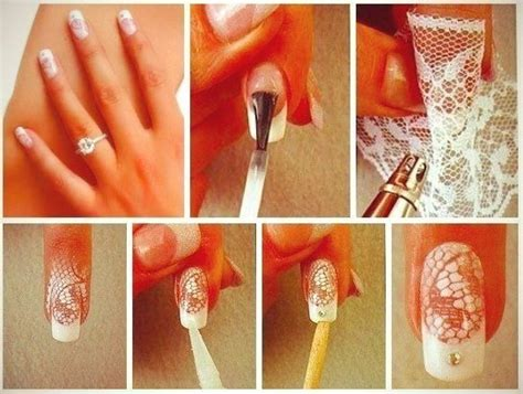 Nail Art Diy : Diy Lace Nail Tutorial For Beautiful Wedding Nails