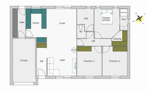 Plan De Maison 100m2 Plein Pied 3 Chambres Avec Garage