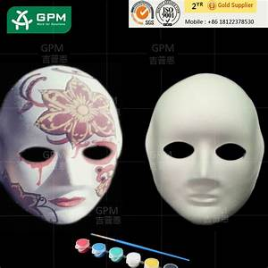 The Cheapest Funny White Half Face Paper Mask For Painting ...