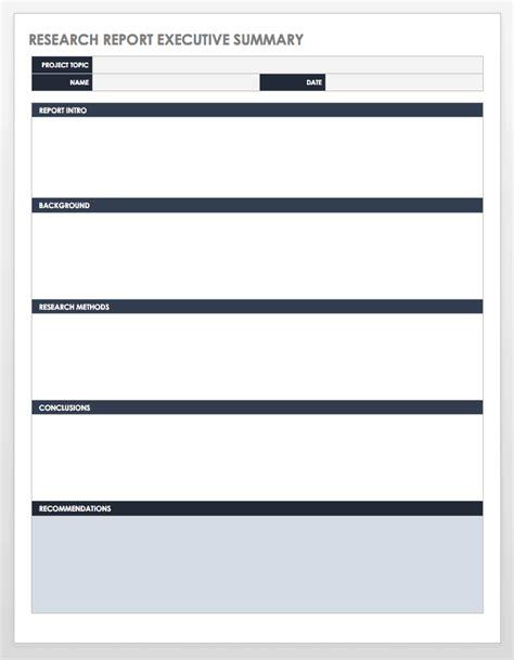 executive summary templates smartsheet