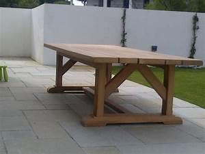 Table Exterieur En Bois : menuiserie ~ Teatrodelosmanantiales.com Idées de Décoration