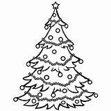 Tree Coloring Christmas Pages Printable Print Drawing Chrismas Trees Santa Clipart Clip Childrens Holiday Holidays Google sketch template