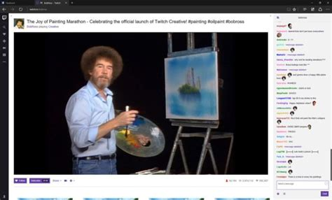 Twitch's Bob Ross Marathon Is The Most Beautiful Thing The