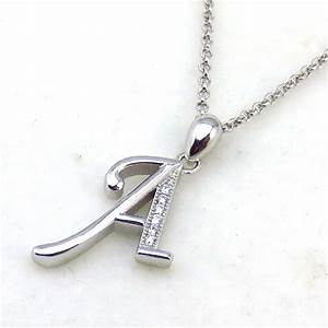 New Design Stylish Alphabet Letter A Simple Silver Pendant ...
