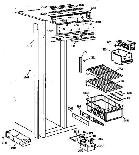 ge zisnya side  side refrigerator parts sears partsdirect