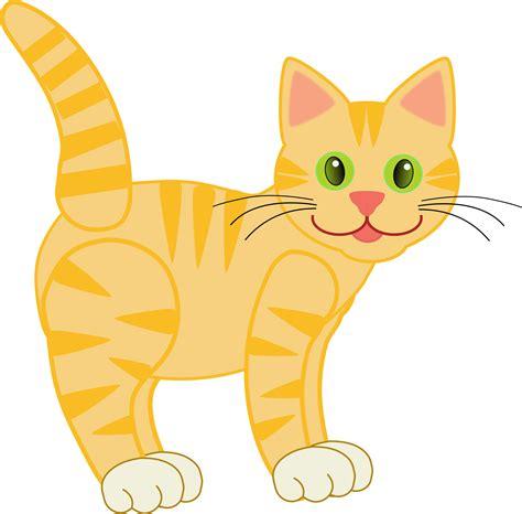 Clipart Cat - clip version2 yellow tiger cat 15 10 8 cat clipart