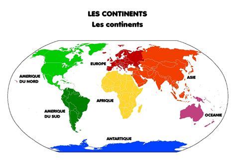 Carte Du Monde Continent Americain by Carte Du Monde Avec Les Continents
