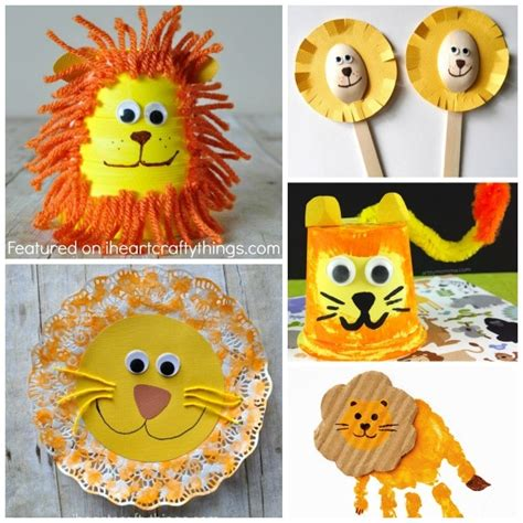 50 zoo animal crafts for 252 | lion crafts