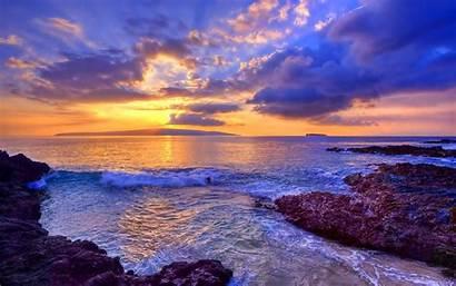 Ocean Desktop Backgrounds Sunset Sea Wallpapers Background