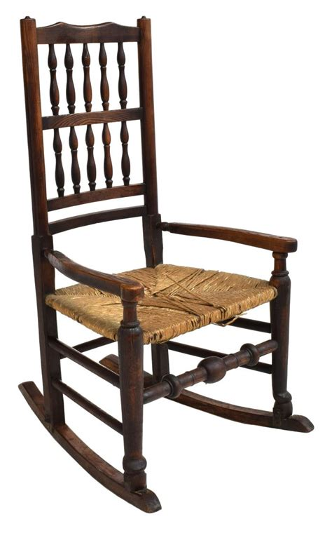 american oak seat rocking chair spectacular carved