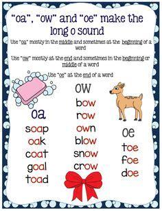 long  ow ou oa images  grade phonics