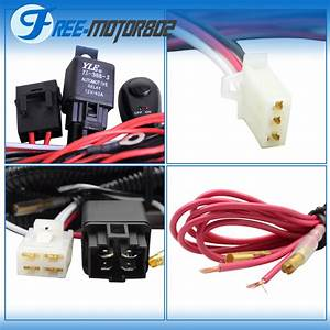 Universal Led Light Bar Fog Light Wiring Harness Kit 40a