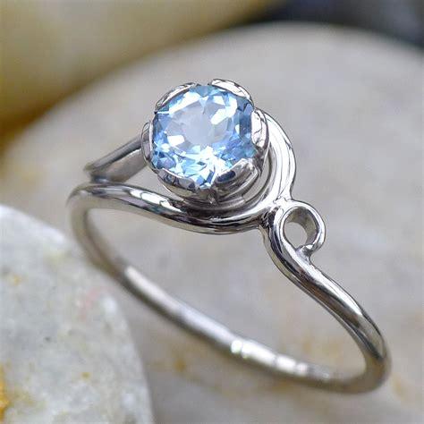 aquamarine diamond art nouveau style ring gemstone