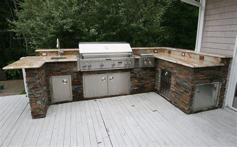 custom built outdoor kitchens   shape kitchen