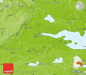 Physical Map Of  U00d6rebro Kommun