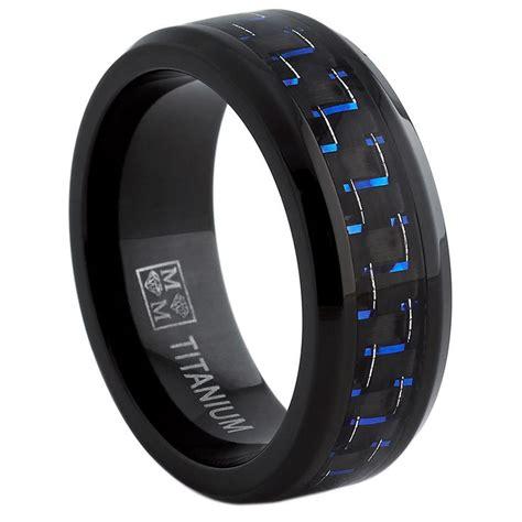 oliveti black titanium mens black  blue carbon fiber