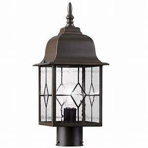 al0344morb portfolio oil rubbed bronze outdoor post light With outdoor pole lights at lowes