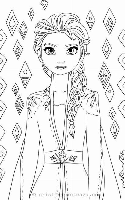 Elsa Frozen Coloring Pages Anna Disney Princess