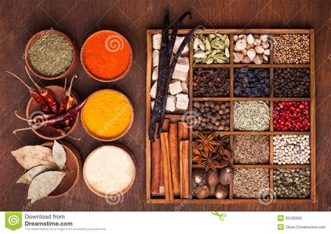 aroma indian cuisine spice set stock image image of aroma collection caraway