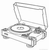 Pl Pioneer Turntable Drawing Table Record Player Turn Template Coloring Vinyl Pages Sketch Engine Plc Direct Drive Getdrawings Vinylengine sketch template
