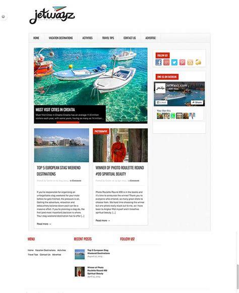 travel blog design redesign  stamped