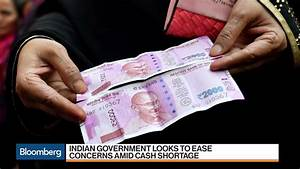 India Faces Cash Shortage – Bloomberg