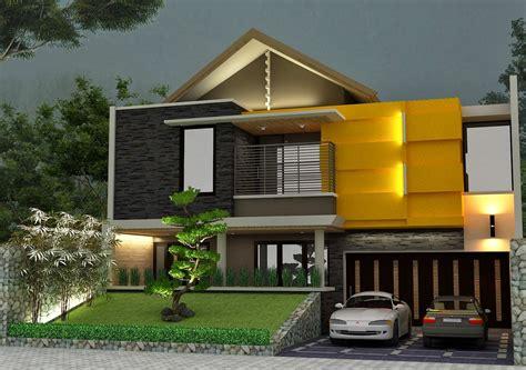 rumah minimalis kontemporer konsep desain tropis