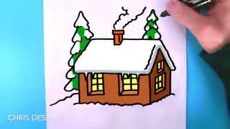 comment dessiner une maison pas a pas tutoriel de dessin facile