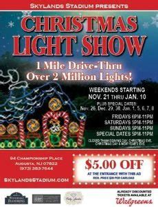 christmas light show skylands stadium video calendar of new jersey family events things to do in nj
