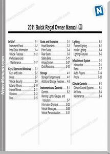 Buick 2011 Regal Owner Manual
