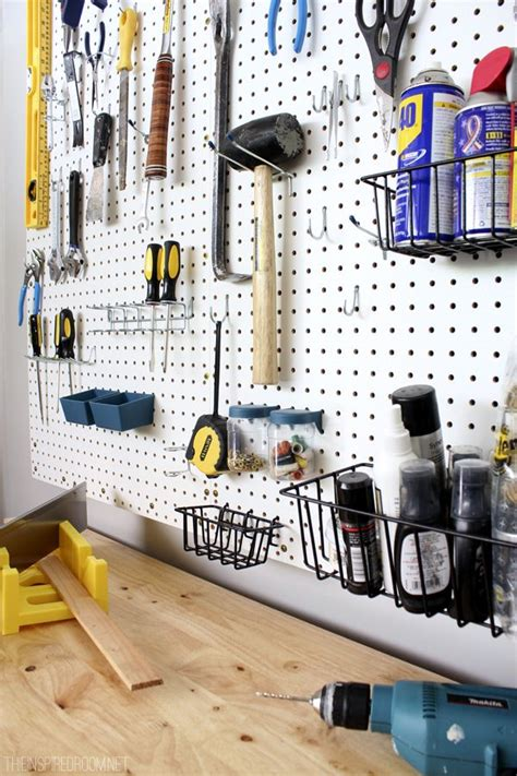 Pegboard Organization  Garage Ideas  A Interior Design