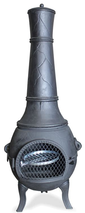 Castmaster Chiminea - buy the castmaster heavy weight valiant cast iron bbq